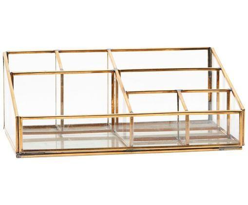 Organizzatore Sorted, Metallo, materiale sintetico, vetro, Ottone, Larg. 15 x Alt. 9 cm