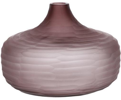 Glazen vaas Orizzo, Glas, Lila, Ø 27 x H 21 cm