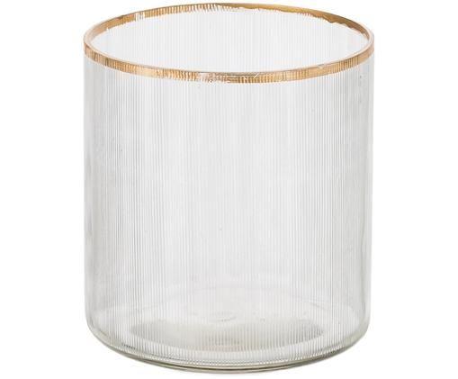 Świecznik na podgrzewacze Aaron, Szkło, Transparentny, odcienie złotego, Ø 9 x W 10 cm