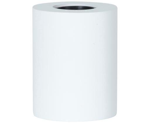 Kleine Tischleuchte Tub, Leuchte: Holz, beschichtet, Weiß, Ø 8 x H 10 cm