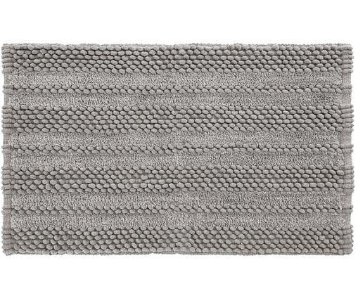 Dywanik łazienkowy z  wysokim stosem Nea, 65% kordonek, 35% bawełna, Szary, S 50 x D 80 cm