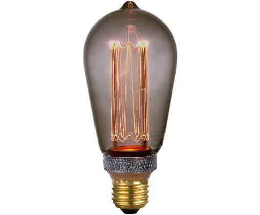 Bombilla regulable LED Colors Drop (E27/5W), Gris, transparente