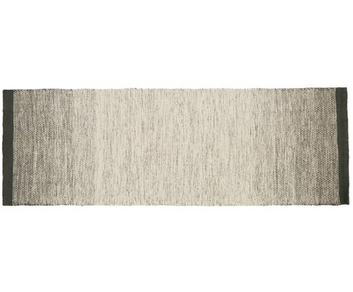 Ręcznie tkany chodnik z wełny z gradientem Lule, 70% wełna, 30% bawełna, Ciemnozielony, beżowy, S 80 x D 250 cm