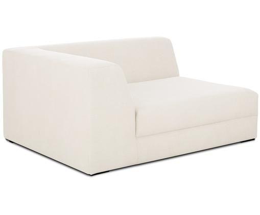 Chaise-longue angolare modulare Grant, Rivestimento: cotone 20.000 cicli di sf, Struttura: legno di abete, Piedini: legno massello di faggio , Beige, Larg. 133 x Prof. 106 cm