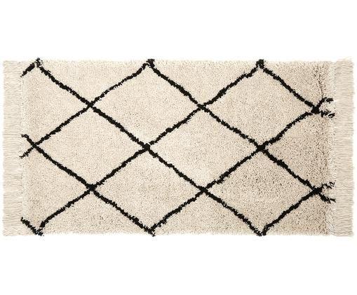 Ręcznie tuftowany dywan Naima, Beżowy, czarny, S 80 x D 150 cm