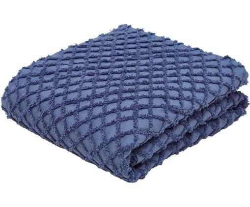 Copriletto Royal, Cotone, Blu, Larg. 240 x Lung. 260 cm