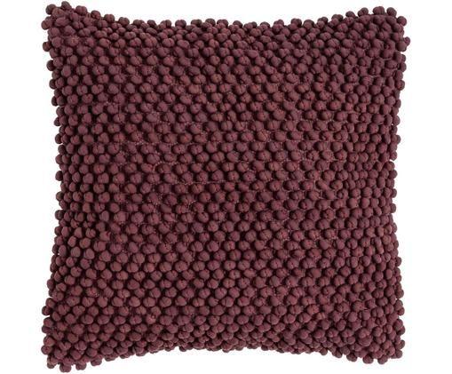 Coussin avec petites boules en tissu MiniBergen, Mauve