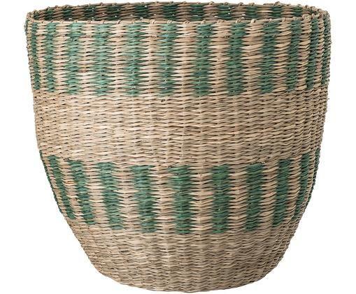 Opbergmand Ludlo, Zeegras, Beige, groen, Ø 33 x H 31 cm