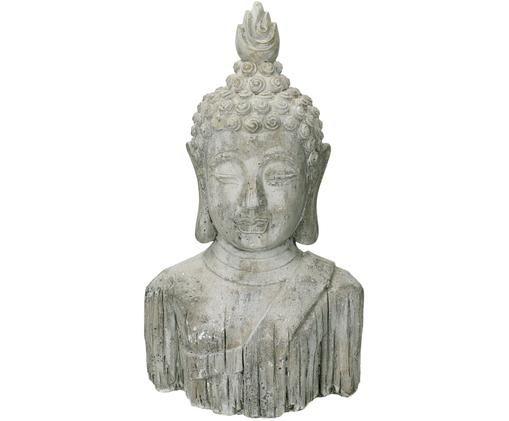 Deko-Objekt Buddha, Beton, Grau, 22 x 37 cm