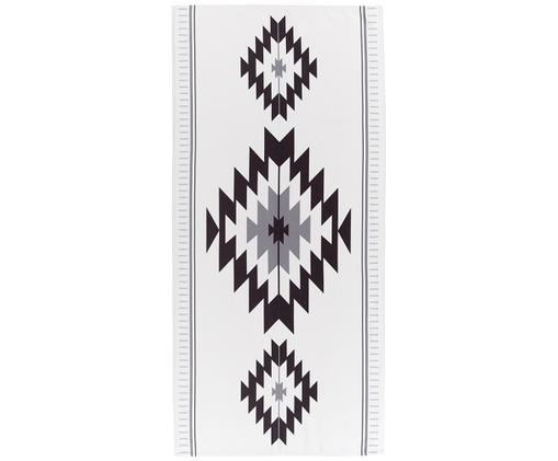 Ręcznik plażowy Ikat, 55% poliester, 45% bawełna Bardzo niska gramatura, 340 g/m², Beżowy, czarny, szary, S 70 x D 150 cm