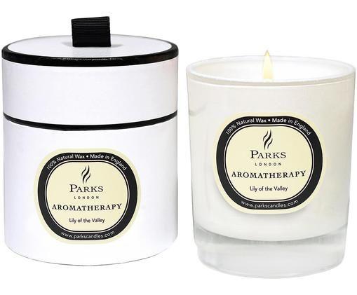 Candela profumata Aromatherapy (mughetto), Contenitore: vetro, Trasparente, bianco, beige, Ø 8 x A 9 cm