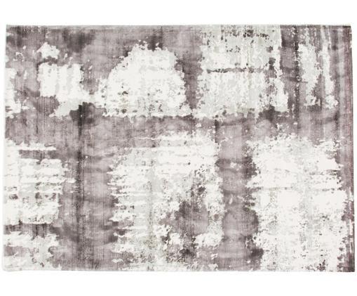 Viskoseteppich Lizzy, Flor: 100% Viskose, Creme, Grau, Dunkelgrau, B 160 x L 230 cm (Größe M)