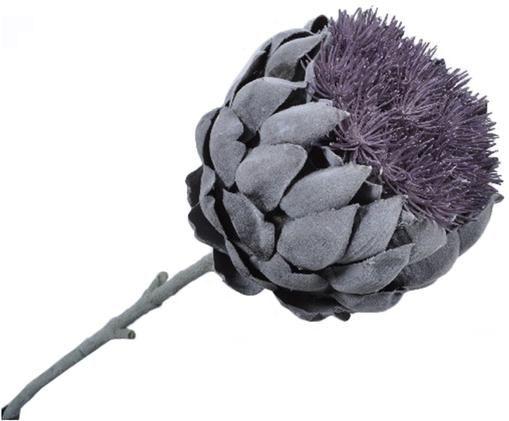 Fleur d'artichaut artificielle Ariel, Lilas, gris