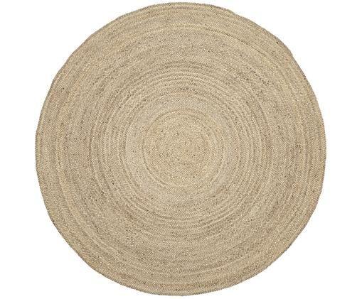 Runder Jute-Teppich Sharmila, handgefertigt, Jute, Beige, Ø 200 cm (Größe L)