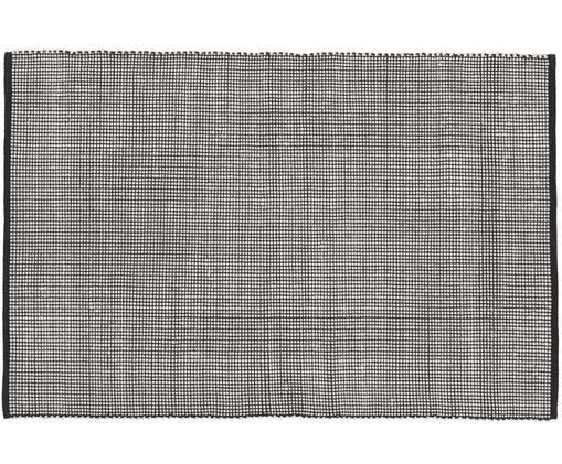 Tappeto in lana tessuto a mano Amaro, Nero, crema, Larg. 120 x Lung. 180 cm (taglia S)