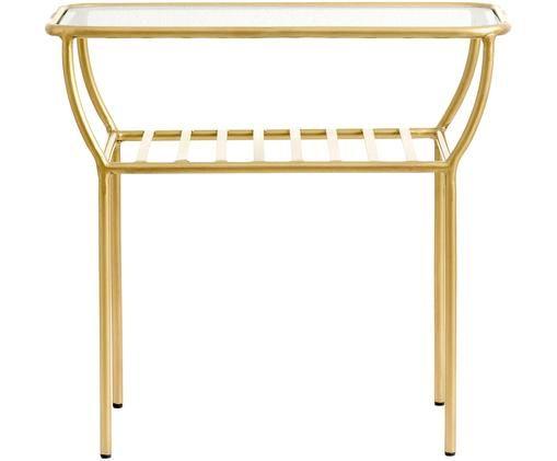 Table d'appoint avec plateau en verre Maeve