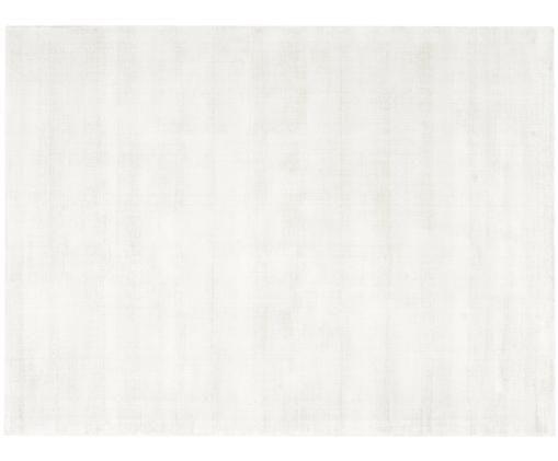 Alfombra artesanal de viscosa Jane, Parte superior: 100%viscosa, Reverso: 100%algodón, Marfil, An 300 x L 400 cm (Tamaño XL)