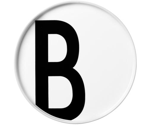 Talerz Personal (warianty od A do Z), Porcelana chińska, Biały, czarny, Talerz B