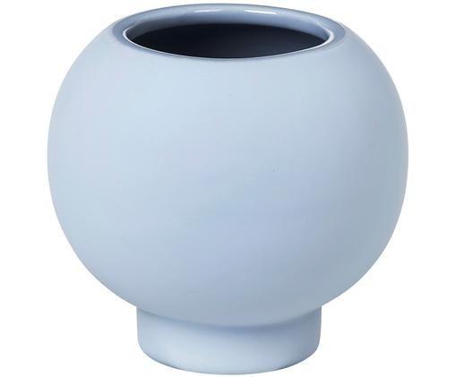 Vaso in terracotta Mushroom, Gres, Blu, Ø 15 x Alt. 14 cm