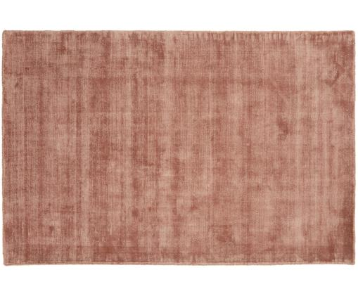 Handgewebter Viskoseteppich Jane, Terrakotta