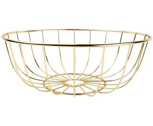 Brotkorb Modesto in Gold, Metall, lackiert, Messingfarben, Ø 28 x H 10 cm