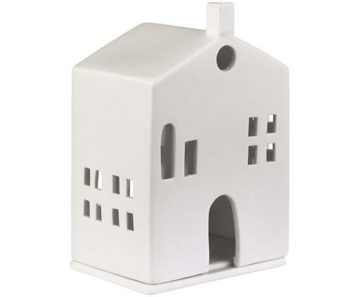 Portacandela Building, Porcellana, Bianco, Larg. 10 x Alt. 15 cm