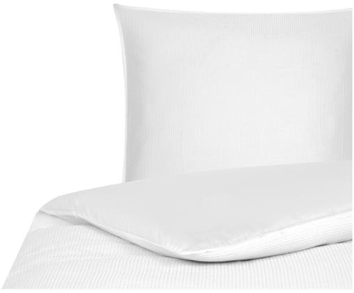 Waffelpiqué-Wendebettwäsche Anita in Weiß, Weiß
