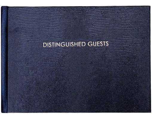 Gästebuch Distinguished Guests, Dunkelblau, Cremefarben