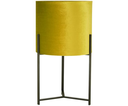Bodenleuchte Piper aus Samt, Lampenschirm: Polyestersamt, Gelb, Ø 45 x H 80 cm