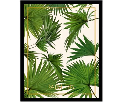 Oprawiony druk cyfrowy Palm Tree I, Stelaż: tworzywo sztuczne, szklan, Wielobarwny, S 30 x W 40 cm