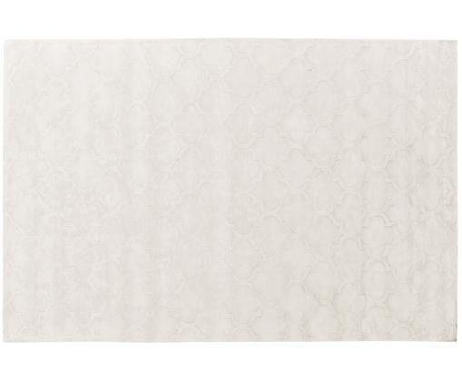 Handgetufteter Viskoseteppich Magali in Creme mit Muster, Flor: 100% Viskose, Creme, B 200 x L 300 cm (Grösse L)