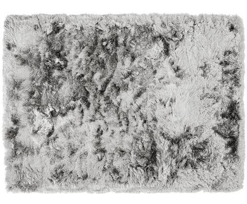 Ručně všívaný koberec svysokým vlasem Jimmy, Světle šedá