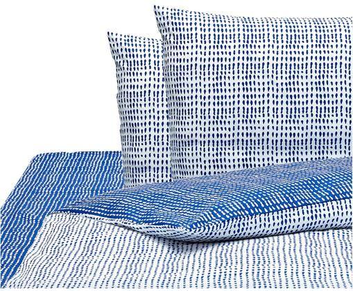 Parure copripiumino Gocciole, Blu, bianco