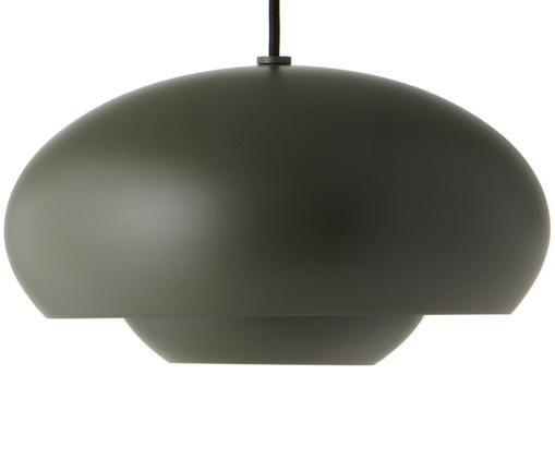 Skandi-Pendelleuchte Champ, Lampenschirm: Messing, pulverbeschichte, Grün, Ø 30 x H 17 cm