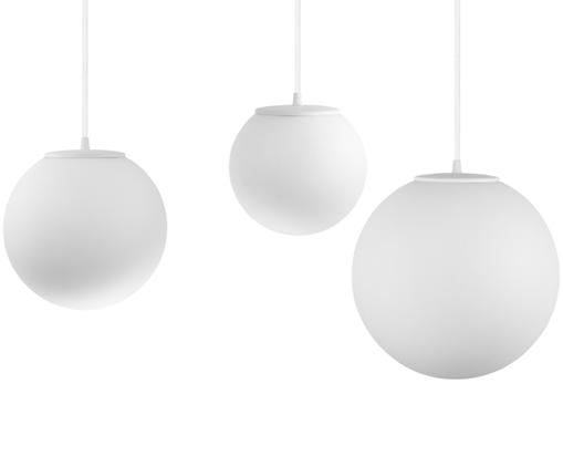 Suspension XL Tsuki Mix, Globe: blanc opale Attache: blanc