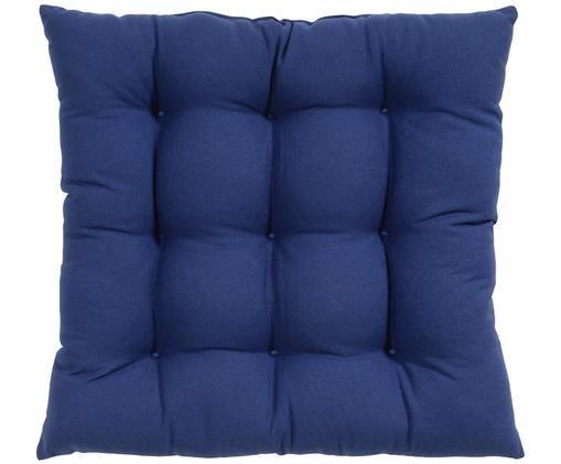 Sitzkissen Ava, Hülle: Baumwolle, Marineblau, 40 x 40 cm