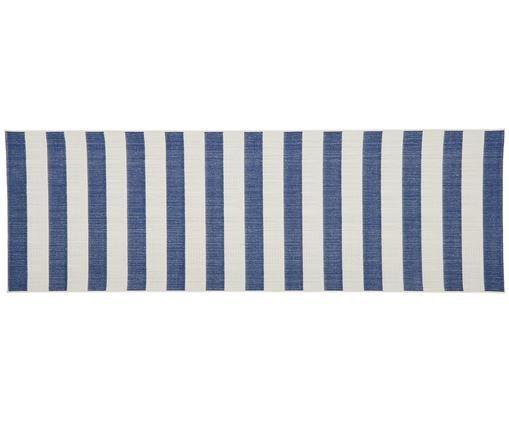 Chodnik wewnętrzny/zewnętrzny Axa, Biały, niebieski, S 80 x D 250 cm