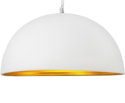 Lampada a sospensione Leo, Bianco, ottonato, Ø 40 x Alt. 25 cm