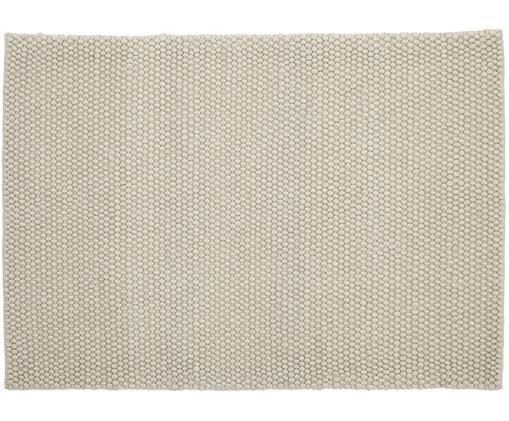 Handgenähter Wollteppich My Loft, Flor: 60% Wolle, 40% Viskose, Elfenbeinfarben, B 80 x L 150 cm (Größe XS)