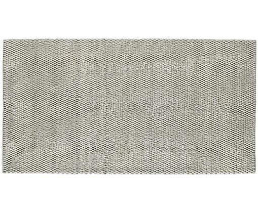 Tappeto in lana fatto a mano My Loft, Vello: 60% lana, 40% viscosa, Retro: cotone, Avorio, Larg. 80 x Lung. 150 cm (taglia XS)