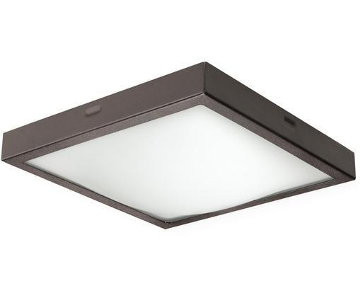 Deckenleuchte Nebris, Lampenschirm: Stahl, Dunkelbraun, 22 x 8 cm