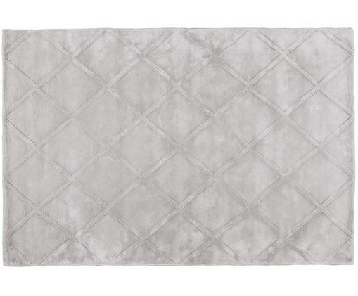 Ręcznie tuftowany dywan z wiskozy Madeleine, Jasny szary