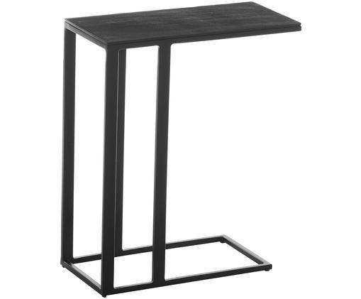 Tavolino nero Edge, Piano d'appoggio: nero Struttura: nero opaco