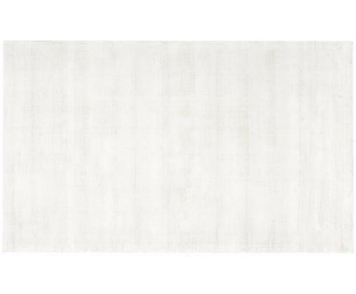 Tappeto in viscosa intrecciata a mano Jane, Vello: 100% viscosa, Retro: 100% cotone, Avorio, Larg. 90 x Lung. 150 cm