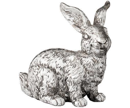 Dekoracja Semina Rabbit, Poliresing, Odcienie srebrnego, S 9 x W 8 cm