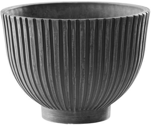 Plantenpot Eileen, Gerecycleerd steenpoeder, kunststof- en houtvezels, Grijs, Ø 25 x H 18 cm