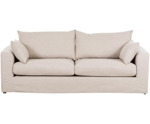 Sofa Zach (3-Sitzer), Bezug: 100% Polypropylen, Webstoff Beige, B 231 x T 90 cm