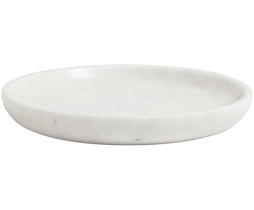 Vassoio decorativo in marmo Lorka, Bianco