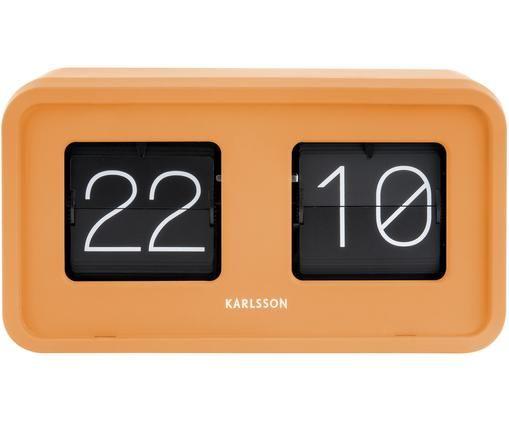 Orologio numerico Bold, Materiale sintetico, Arancione, nero, bianco, Larg. 27 x Alt. 15 cm