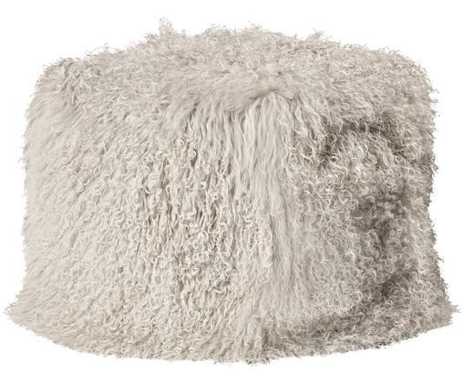 Fauteuil poire en peau d'agneau Cube